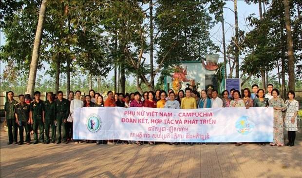 Des femmes cambodgiennes effectuent une visite d'amitie au Vietnam hinh anh 1
