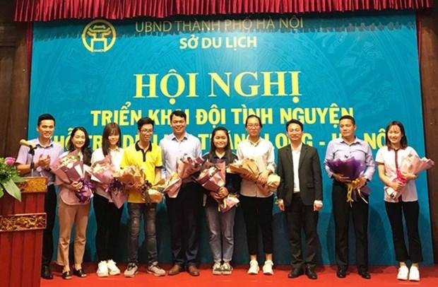 300 etudiants guides volontaires pour presenter les sites de Hanoi hinh anh 1
