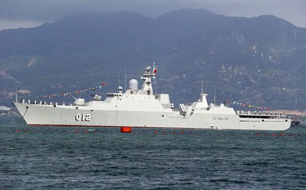 Un navire militaire du Vietnam effectue une visite d'amitie au Myanmar hinh anh 1