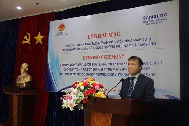 Samsung forme des experts en industries auxiliaires au Vietnam hinh anh 1