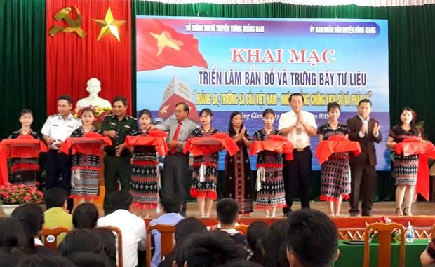 Exposition sur Hoang Sa et Truong Sa a Quang Nam hinh anh 1
