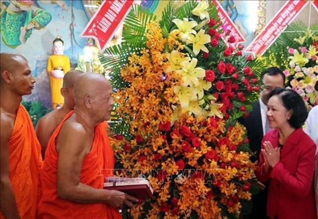 Des voeux pour les bouddhistes a l'occasion du 2563e anniversaire de naissance de Bouddha hinh anh 1