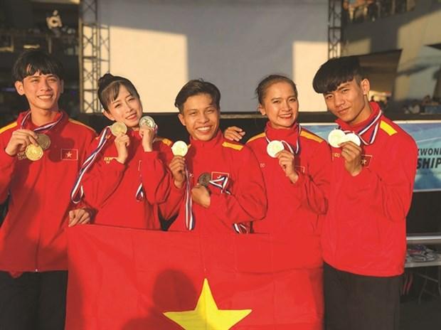 Le Vietnam remporte 72 medailles au Championnat de taekwondo de l'ASEAN hinh anh 1