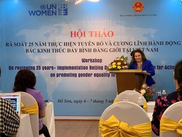 Le role et le statut des femmes vietnamiennes s'ameliorent de plus en plus hinh anh 1