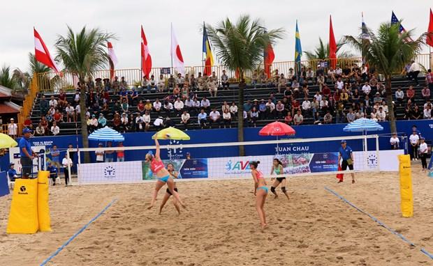 Ouverture du Championnat du monde de volley-ball de plage feminin de Tuan Chau 2019 hinh anh 1