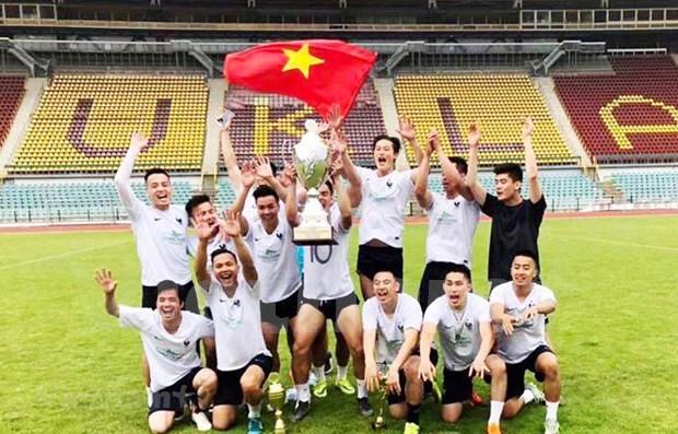 Integration des Vietnamiens a travers le tournoi de football du Senat tcheque 2019 hinh anh 1