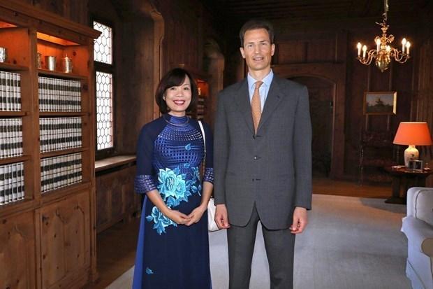Le prince heritier du Liechtenstein salue le role croissant du Vietnam hinh anh 1
