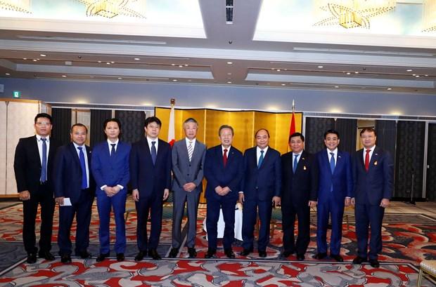 Le PM Nguyen Xuan Phuc recoit les dirigeants de grands groupes japonais hinh anh 1