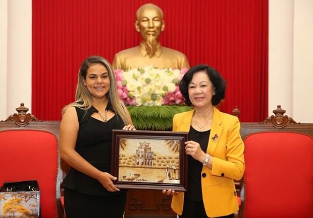 Une delegation de la jeunesse venezuelienne en visite a Hanoi hinh anh 1
