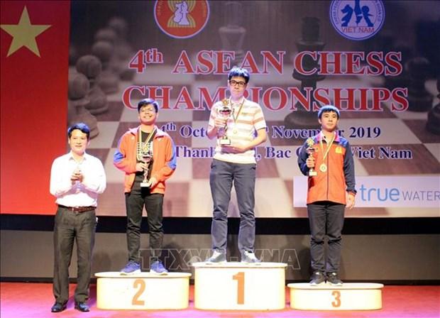 Championnats d'echecs d'Asie du Sud-Est 2019 : 14 medailles pour le Vietnam hinh anh 1