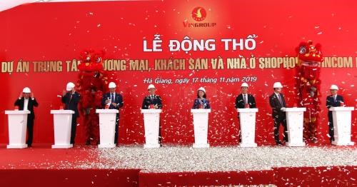 Mise en chantier d'un centre commercial Vincom a Ha Giang hinh anh 1