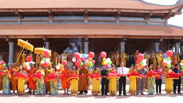 Inauguration du monastere zen Truc Lam Bac Lieu hinh anh 1