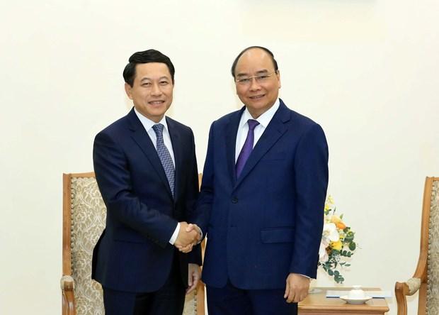 Le PM Nguyen Xuan Phuc recoit le ministre laotien des Affaires etrangeres hinh anh 1