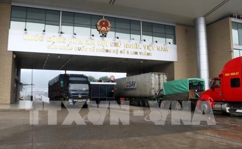 Tet : 1.300 tonnes de produits agricoles exportes via la porte frontaliere de Lao Cai hinh anh 1