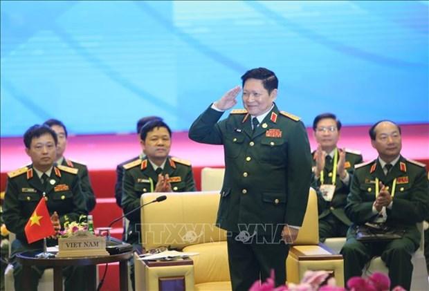 Le ministre de la Defense recoit le Secretaire general de l'ASEAN hinh anh 1