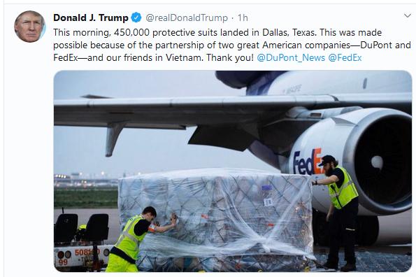 Donald Trump estime la cooperation avec le Vietnam dans la lutte contre la pandemie de COVID-19 hinh anh 1