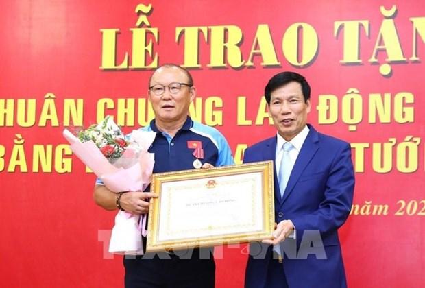 L'entraineur en chef sud-coreen Park Hang-seo a l'honneur hinh anh 1