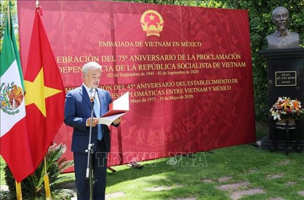 La 75e Fete nationale du Vietnam celebree au Mexique hinh anh 1
