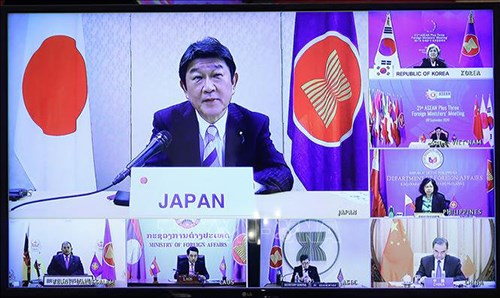 Le Japon s'engage a fournir un million de dollars pour soutenir l'ASEAN contre le COVID-19 hinh anh 1