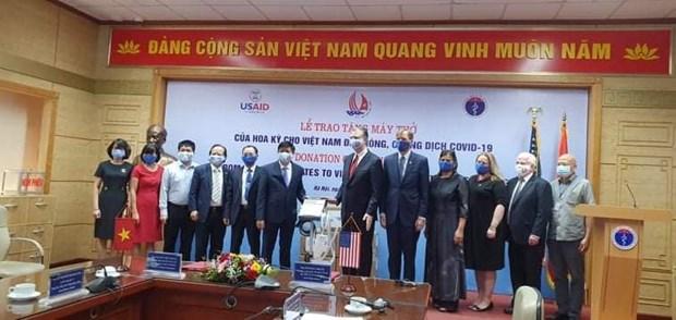 COVID-19: Les Etats-Unis offrent au Vietnam 100 nouveaux ventillateurs hinh anh 1