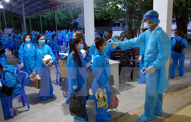 COVID-19: Plus de 230 citoyens vietnamiens bloques en Thailande rapatries hinh anh 1