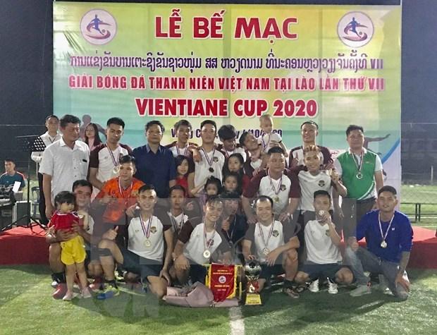 Cloture du 7e tournoi de football des jeunes vietnamiens au Laos hinh anh 1