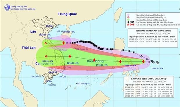 La tempete Saudel a touche les provinces centrales le 25 octobre hinh anh 1