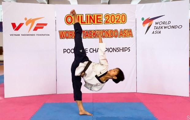 Le Vietnam decroche la medaille de bronze de taekwondo d'Asie hinh anh 1