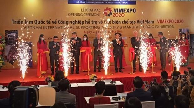 Ouverture du salon international sur l'industrie auxiliaire VIMEXPO 2020 hinh anh 1