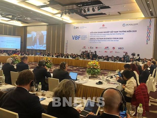Le Forum d'affaires 2020 a Hanoi : Defis et opportunites dans la nouvelle normalite hinh anh 1