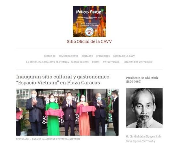 Lancement du site web de l'Association d'amitie Venezuela-Vietnam hinh anh 1