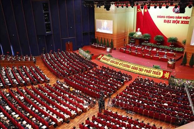 Communique de presse sur la deuxieme journee de travail officielle du 13e Congres national hinh anh 1