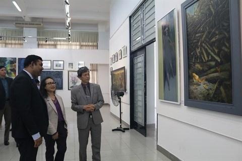 Exposition des beaux-arts Vietnam - Inde hinh anh 1