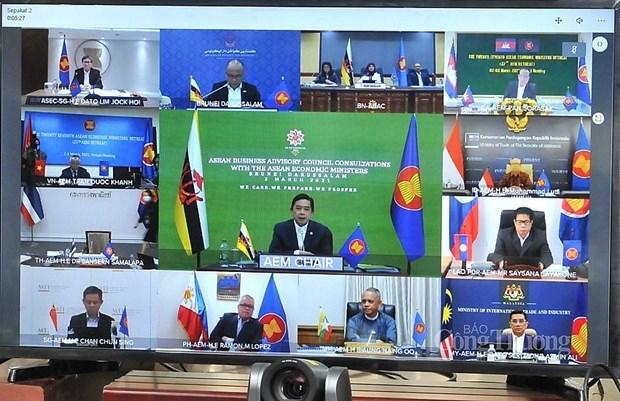 La 27e conference restreinte des ministres de l'Economie de l'ASEAN hinh anh 2
