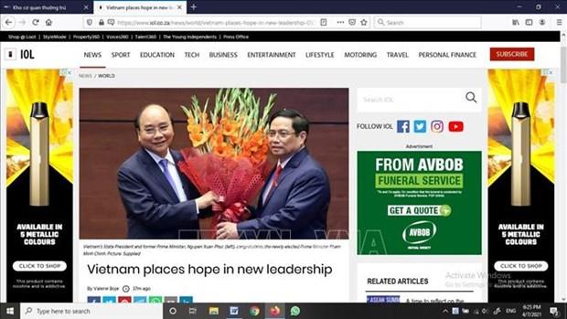 Les medias etrangers apprecient les nouveaux dirigeants du Vietnam hinh anh 1