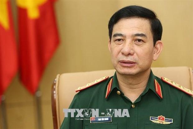 Vietnam-Laos : Entretien en ligne entre les ministres de la Defense hinh anh 1