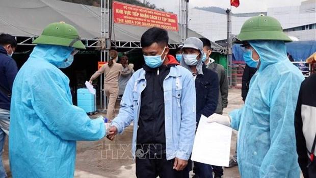 COVID-19 : suspension temporaire de l'entree des Vietnamiens par la porte frontaliere de Cau Treo hinh anh 1