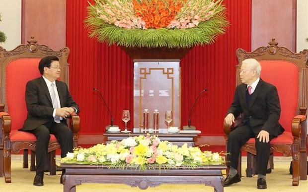 La visite du secretaire general et president lao devra approfondir les liens bilateraux hinh anh 1