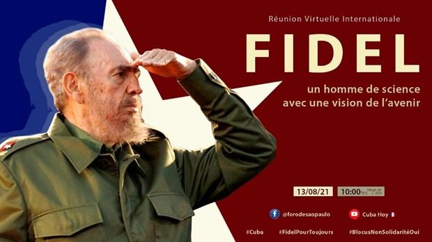 Commemorer le 95e anniversaire du leader cubain Fidel Castro dans la province de Quang Tri hinh anh 3
