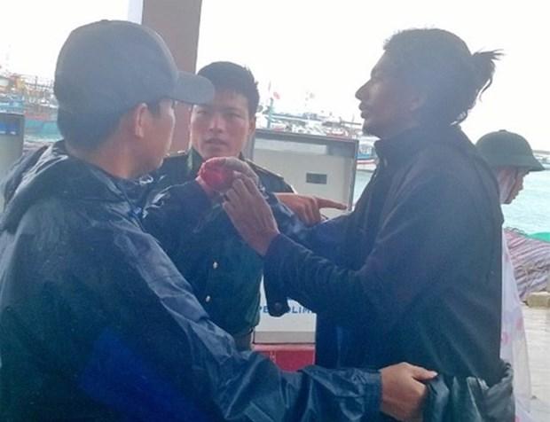 Ly Son accueille un marin indien blesse apres un accident de travail hinh anh 1