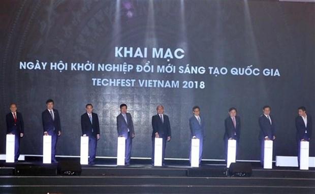 Start-up : ouverture de Techfest Vietnam 2018 hinh anh 1
