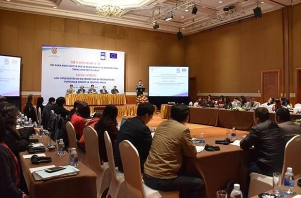 Forum juridique sur la protection des personnes vulnerables dans le secteur judiciaire hinh anh 1