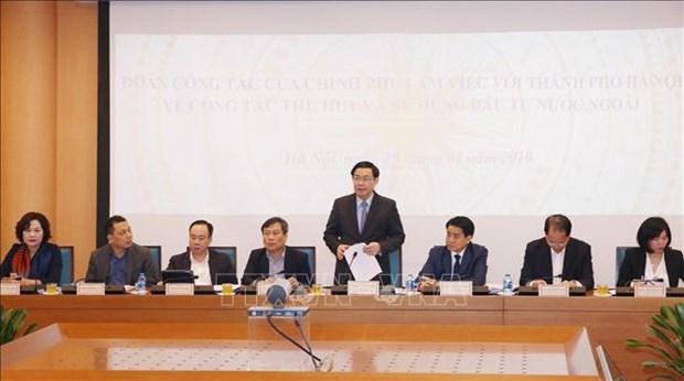 Le vice-PM Vuong Dinh Hue travaille avec Hanoi sur les IDE hinh anh 1