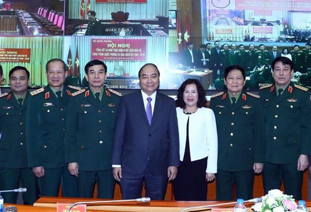 Le PM a une conference sur la defense des ouvrages et zones militaires hinh anh 1