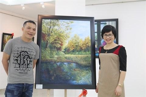 Les peintures de l'amour d'un couple vietnamien de Washington DC hinh anh 2