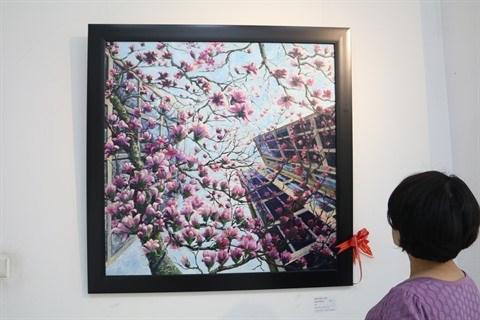 Les peintures de l'amour d'un couple vietnamien de Washington DC hinh anh 1