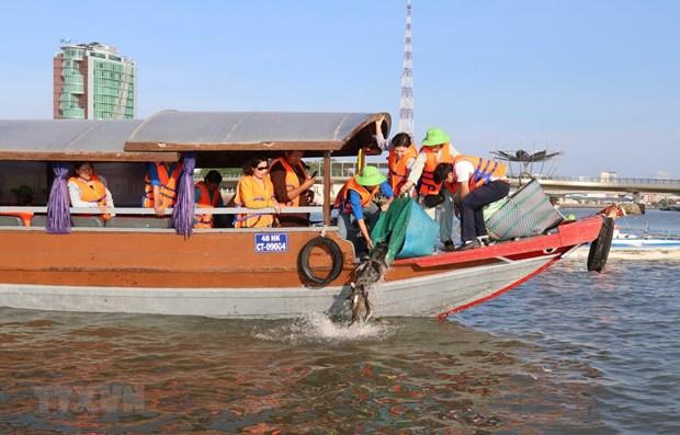Pres de 5,3 millions d'animaux aquatiques reproducteurs relaches dans le golfe du Bac Bo hinh anh 1