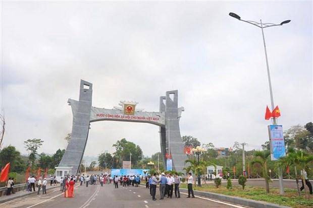 Gia Lai : inauguration du portail du poste frontalier de Le Thanh hinh anh 1