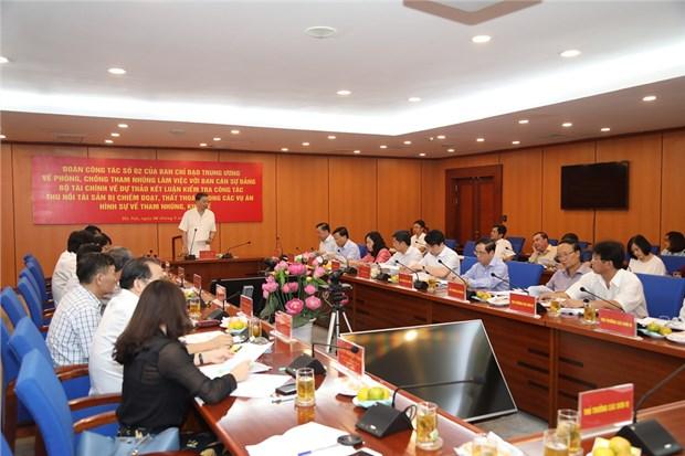 Renforcement des efforts contre la corruption dans le secteur des finances hinh anh 1