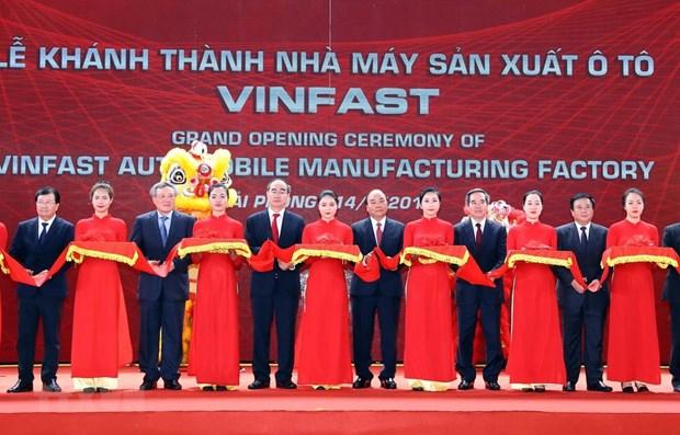 Automobile : inauguration de l'usine VinFast a Hai Phong hinh anh 1